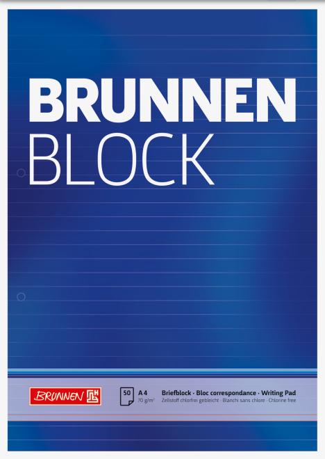 Br Block A4 liniert gel.