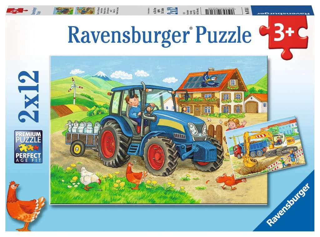 Baustelle und Bauernhof