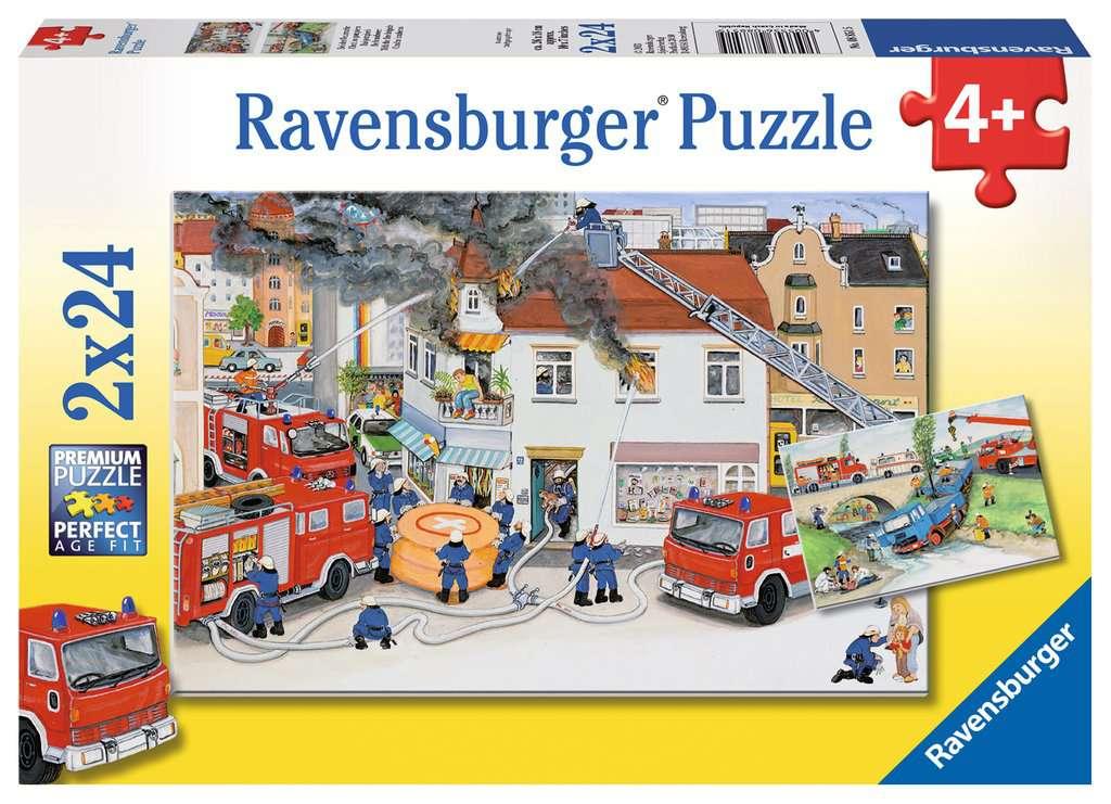 Puzzle 2x24 Teile Bei der Feuerwehr