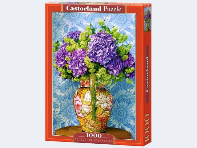 Puzzle 1000T Hortensien in Vase Castorland