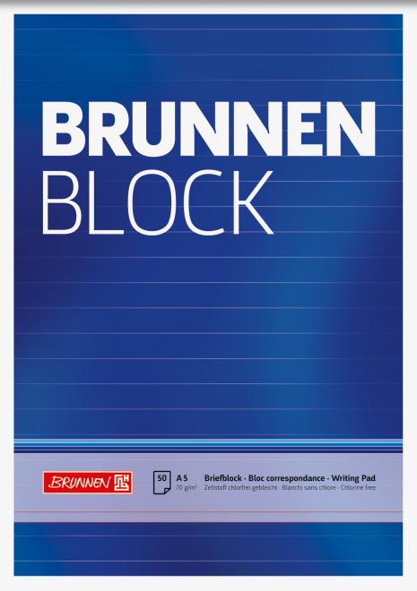 Br Briefblock A5 liniert
