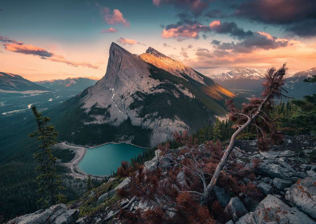 Abends in den Rocky Mountains