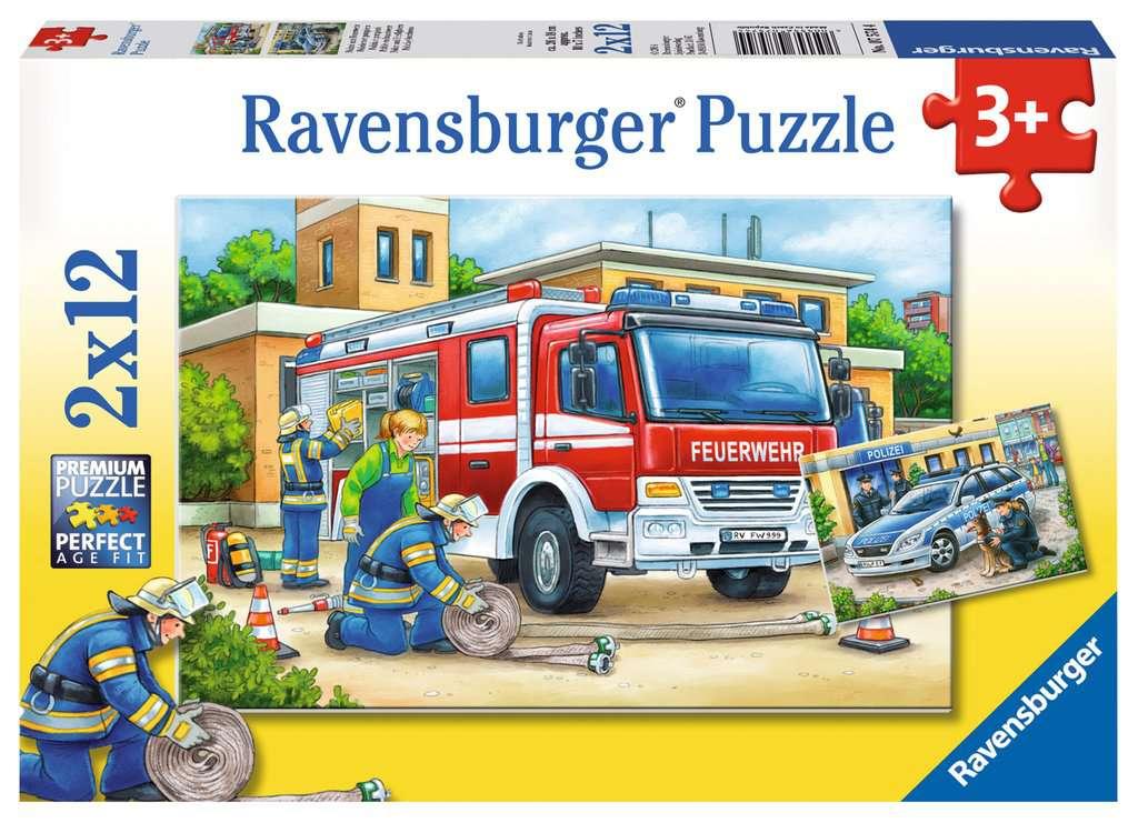 Polizei und Feuerwehr